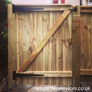 Feather edge gate - 4ft