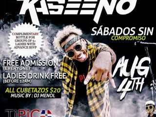 Kaseeno kicks off his Official After Party for the IM Fest at Club Tipico Dominicano