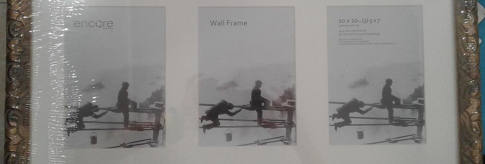 Portaretrato marco para fotos estilo victoriano rectangular de tres fotos