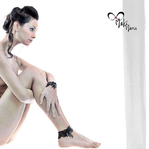 Bracelet Paillettes noires Italiennes