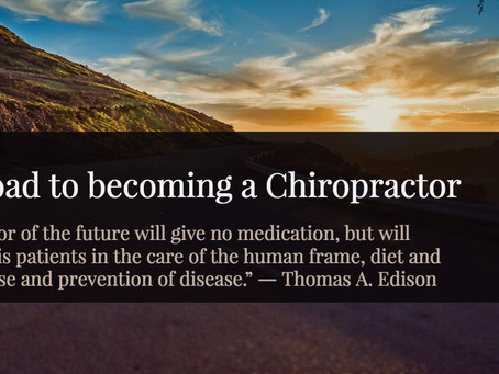 My Road to becoming a Chiropractor