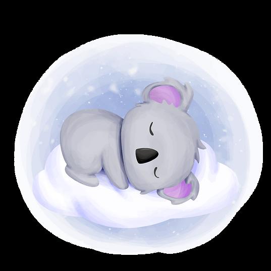 """â€""""Pngtreeâ€""""baby koala sleep on cloud"""