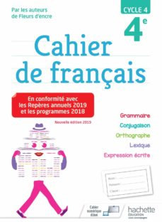 Cahier de français - cycle 4