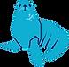 Just Sea Lion Blue Outline.png