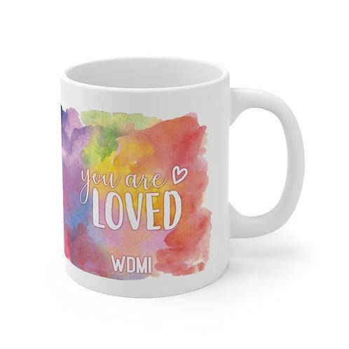 """WDMI """"You are LOVED"""" Ceramic Mug 11oz"""