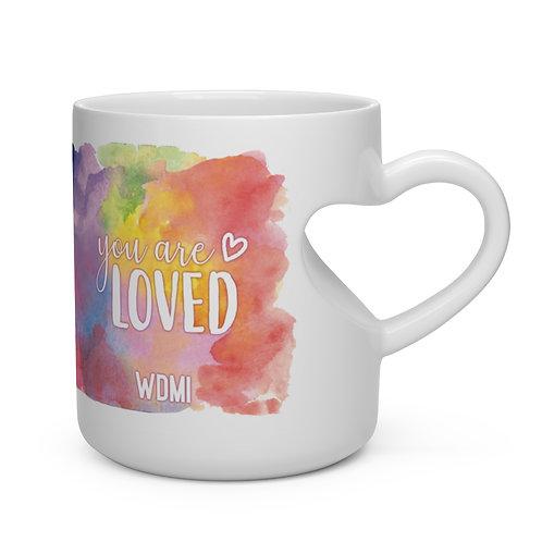 """WDMI Heart Shape Mug- """"You are LOVED"""""""
