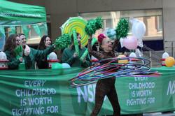 NSPCC cheerleaders for London Landmark Half Marathon