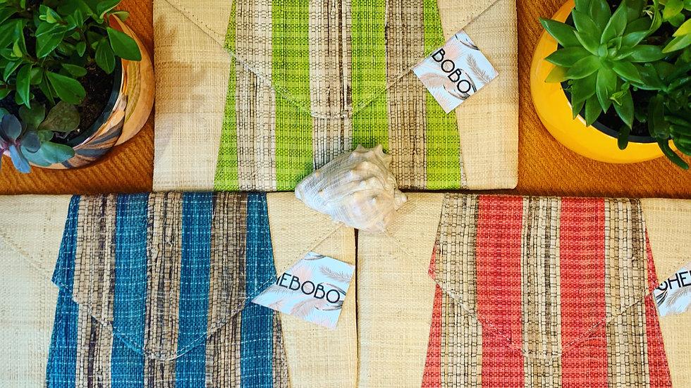 Shebobo Rafia Banana Palm clutch