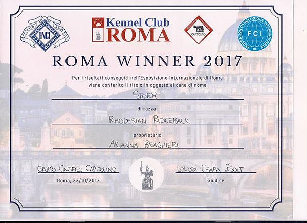 Rhodesian Ridgeback Roma Winner , Kennel Club Roma