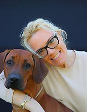 Rhodesian Ridgeback World Winner with her breeder