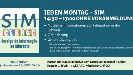 Serviço de Informação ao Migrante (SIM) - Toda Segunda no Cebrac