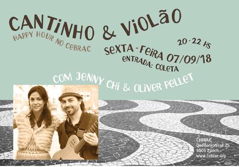 Cantinho e violão com Jenny Chi & Oliver Pellet, no dia 07.09.