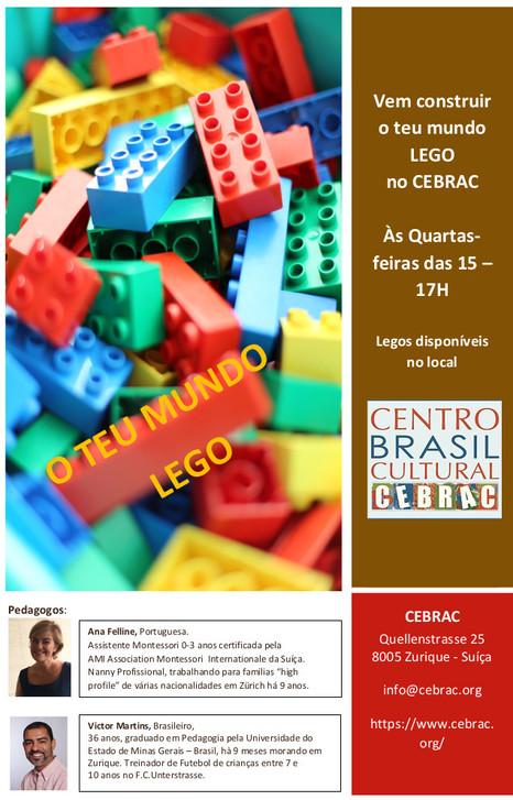 O teu mundo LEGO - Com o CEBRAC, semanalmente nas quartas