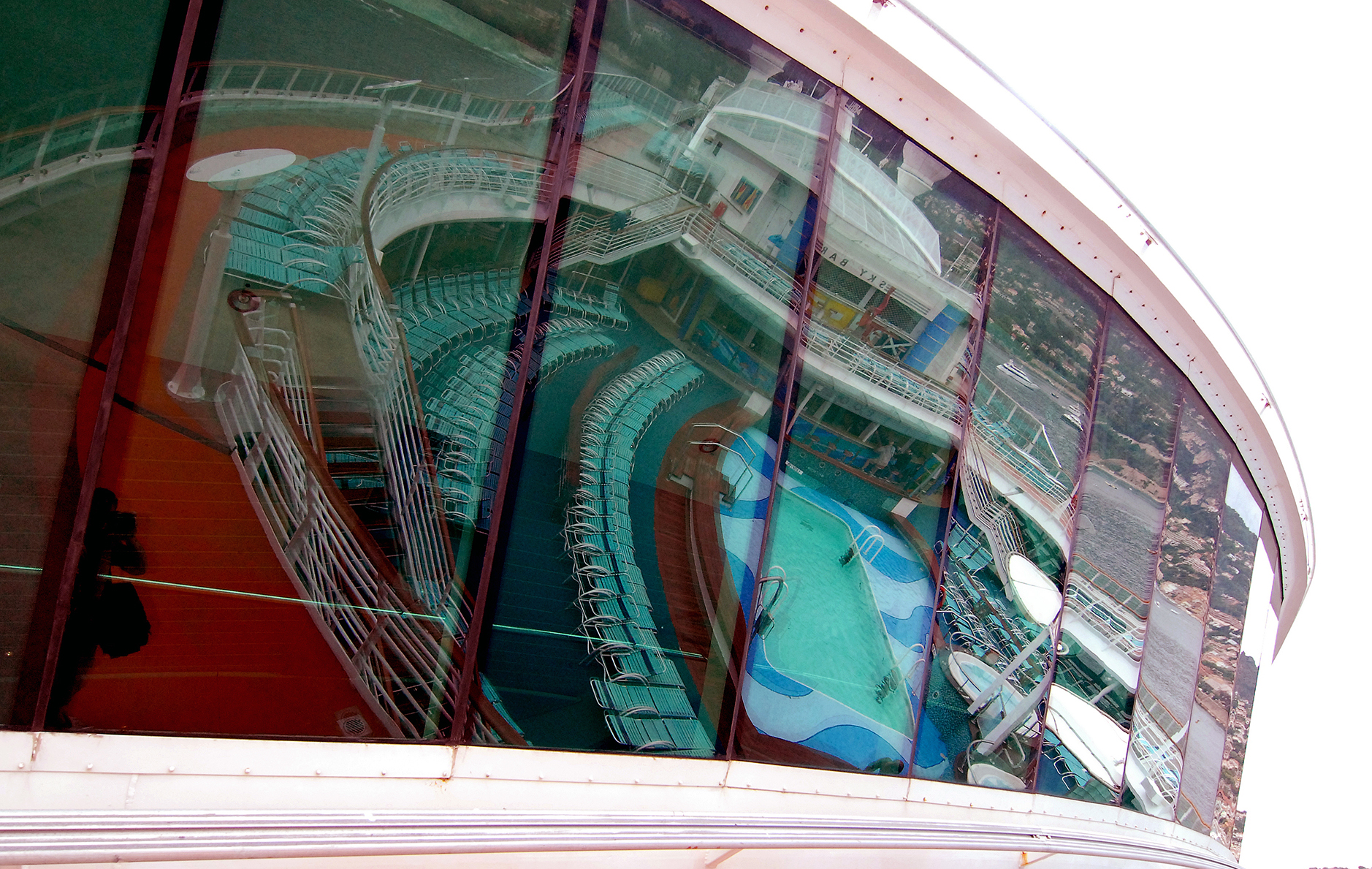 Pool Reflection, Cruise Ship.jpg