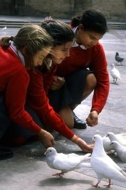 Schoolgirls, Valenica, Spain.jpg