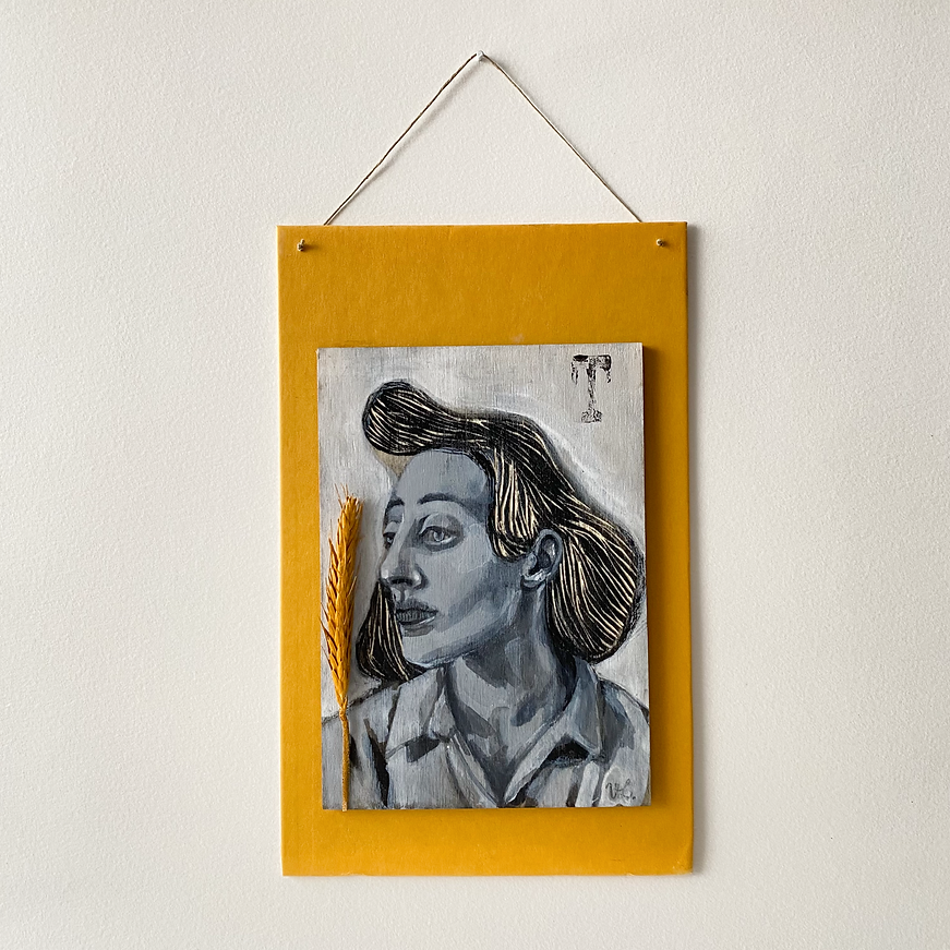 Portrait on panel