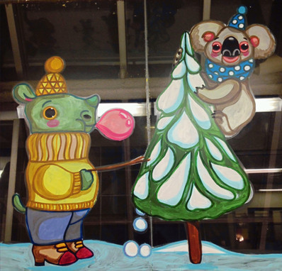 """Winter Tourists"", detail"