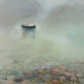 Båd ved Fjællebro, Danske Billeder