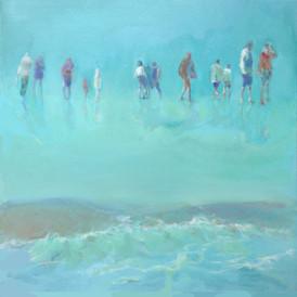 Mennesker på strand, Ahrenshoop