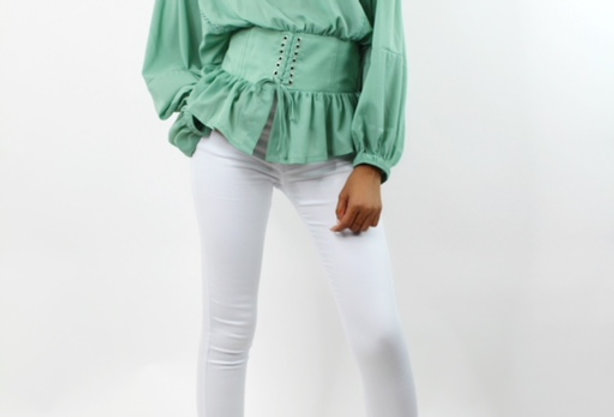 Mint Billowy Blouse
