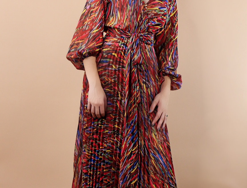 Work of Art Pleated Maxi