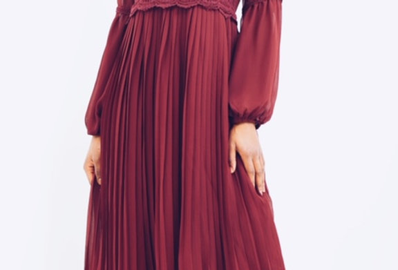 Pleated Victorian Dress