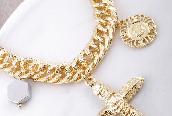 Cross Over Charm Bracelet