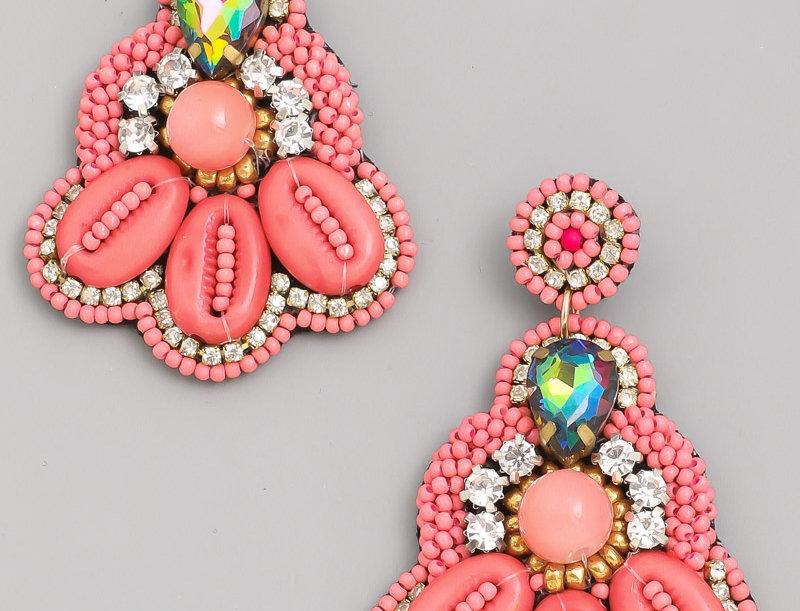 Cancun Boho Beaded Earrings