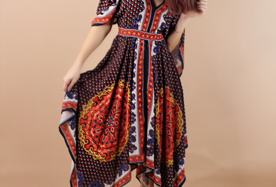 Boho Tie-Back Dress