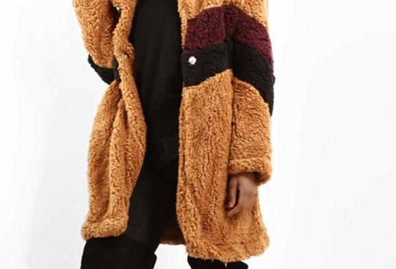 Chevron Teddy Coat