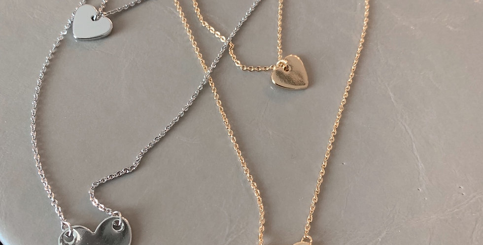 Duo Hearts | Layered Necklace