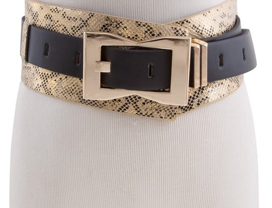 Exotic Python Wide Belt