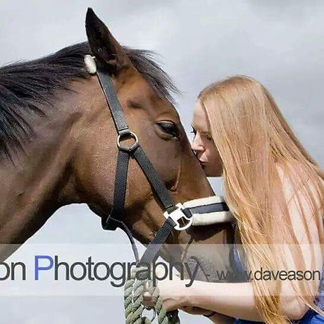 A picture of me and my beloved mare, Louisa, in Summer 2013