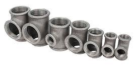 various metal tee fittings with inner th