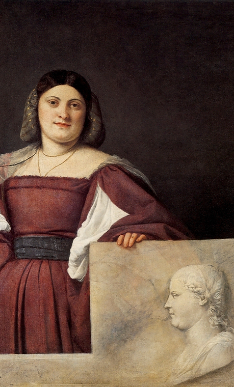 ティツィアーノ《ある女性の肖像》(通称ラ・スキアヴォーナ) 1510年頃 ロンド