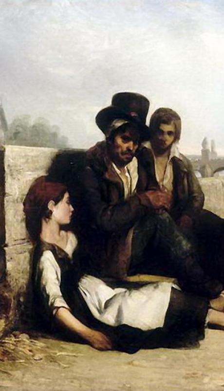 フィリップ・オーギュスト・ジェアンロン、《パリの風景》、1833年