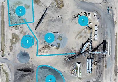 Construction site, aerial photo, volumetric analysis