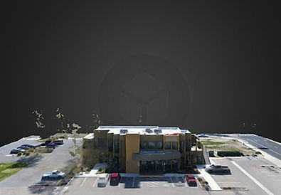 Aerial 3D model, commecial real estate