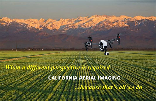 Drone flying over san joaquin valley collecting images of crops