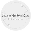 Listed Supplier Logo love of all wedding
