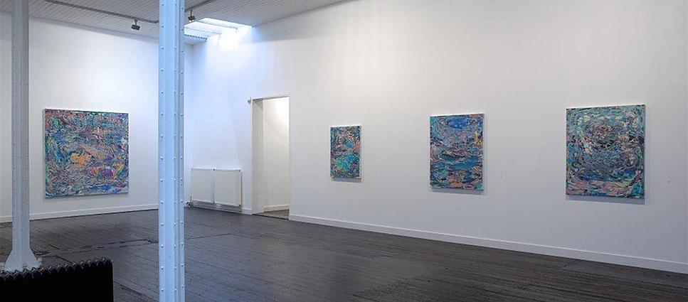 Abstracte schilderijen van Omar Koubaa bij Galerie Nouvelles Images