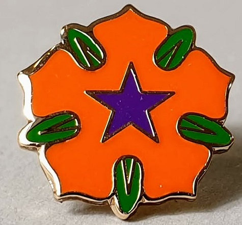 'Orange Rose' lapel badge