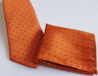 Orange Dress Tie & Pocket Handkerchief