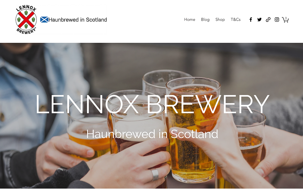 Screenshot of the new homepage - people clinking beer glasses