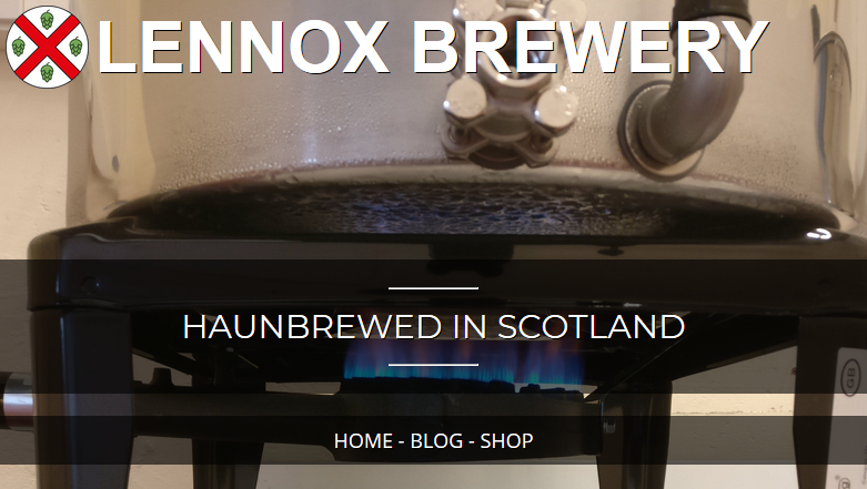 Screenshot of the new homepage showing a brew kettle above a gas burner