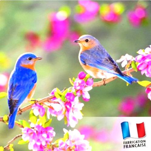 """Bougie parfumée """"Pot de confiture moyen""""Jardin de printemps"""