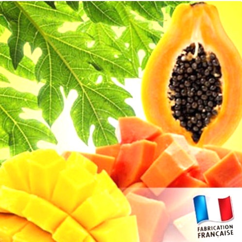 "Bougie parfumée ""Pot de confiture moyen"" Mangue Papaye"