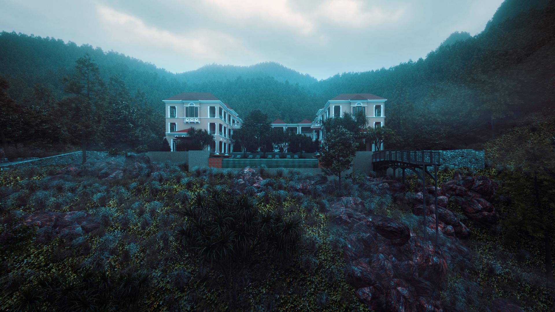 Adimest the hills