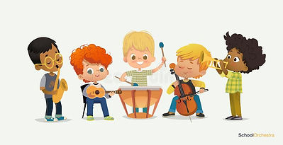 kids-boy-orchestra-play-different-music-