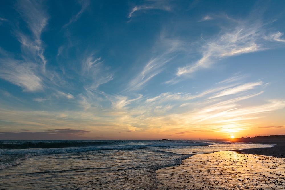 中田島砂丘の夕日